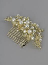 Peigne Cheveux Bijou Perles Et Strass