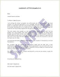 Free Hardship Letter Template Sample Mortgage For Loan On