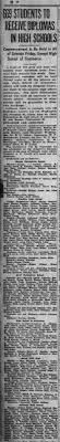 Isabella Blair High School Graduation 6 Jun 1920 - Newspapers.com
