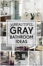 35 beautiful gray bathroom ideas with