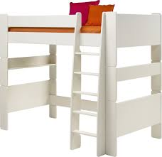 Steens For Kids High Sleeper Bed In Solid Plain White (ordinary White  Wooden High Sleeper ...