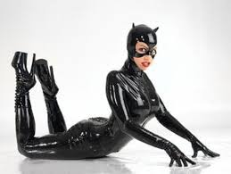 <b>Fast Delivery</b> Adult <b>Women</b> Black PU Patent Leather Catsuit <b>Sexy</b>