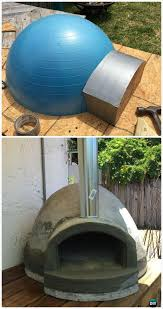diy exercise ball wood fired pizza oven instructions diy outdoor pizza oven ideas projects