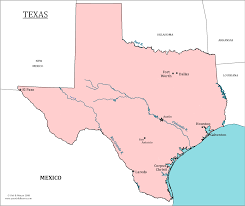 texas state map  map of texas and information about the state