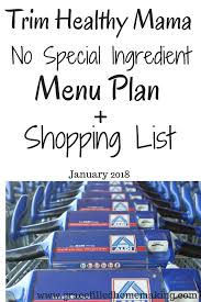 Thm No Special Ingredient Menu Plan + Shopping List January 2018!