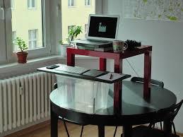 image of ikea hack standing desk mounted