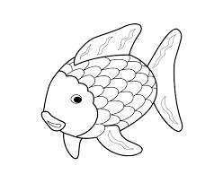 Small Picture Rainbow Fish Coloring Page Coloring Home