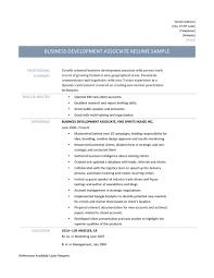 Associate Resume Business Development Associate Resume Template And Job Description