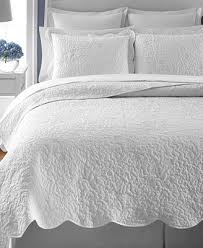 CLOSEOUT! Martha Stewart Collection Whisper Leaves White King ... & Martha Stewart Collection Whisper Leaves White King Quilt (Created for  Macy's) Adamdwight.com