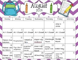August Theme Calendar Summer Preschool Information First Baptist Church Of Tahoe
