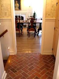 tile that looks like brick pavers fake brick flooring great white wall painted also faux brick