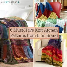 Knitted Afghan Patterns Impressive 48 MustHave Knit Afghan Patterns From Lion Brand AllFreeKnitting