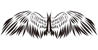 かっこいい翼のイラスト 装飾デザインのフリー素材 チコデザ
