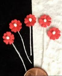 Paper Flower Hats Details About 20 Flowers Tiny Red Handmade Mulberry Paper Flower Pollen Miniatures Dolls Hats