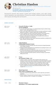 Commercial Producer Sample Resume