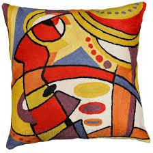 decorative accent pillows. Exellent Pillows KandinskymusicalaccentCushionCoverRedBluesofa Throughout Decorative Accent Pillows