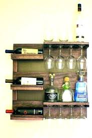 diy wine glass rack storage ideas floating shelves with holders and under cabinet