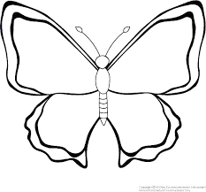 Printable Butterfly Outline Butterfly Outline Coloring Page Angkorddhouse Com
