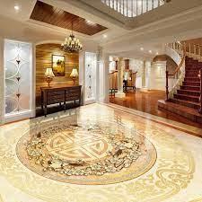 Custom 3D Floor Tiles Mural Wallpaper ...