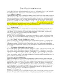Catering Agreement Snow College Catering Agreement Templates At