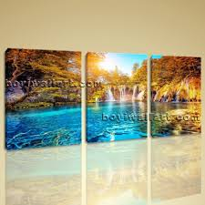 Large Living Room Paintings Large Famous Resort Landscape Contemporary Print On Canvas Wall