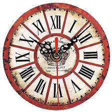 office wall clock.  Office Universal 1Pc Artistic Creative European Style Round Antique Wooden Home Office  Wall Clock Decoration 7 On