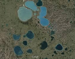 Yamal lakes aerial view
