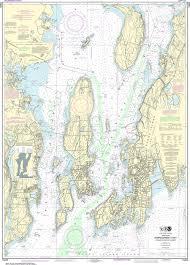 Noaa Charts Australia Noaa Nautical Chart 13223 Narragansett Bay Including Newport Harbor