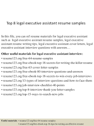 Executive Assistant Resume Samples Cool Top 60 Legal Executive Assistant Resume Samples