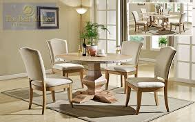 54 blytheville rustic natural round dining table intended for design 2