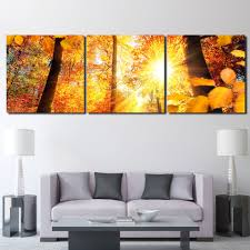 3 pcs set framed hd printed autumn sunshine trees maple picture wall art canvas print decor poster canvas modern oil painting in painting calligraphy from  on autumn tree set of 3 framed wall art prints with 3 pcs set framed hd printed autumn sunshine trees maple picture wall