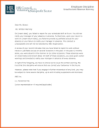 Letter For Absence 9 Employee Absence Warning Letter Shawn Weatherly