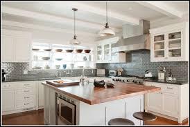 decoration dark grey backsplash new kitchen light gray wooden cabinet contemporary steel stove throughout 4