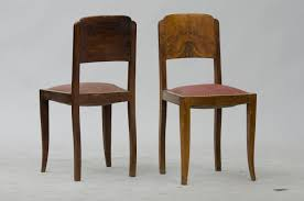vintage french walnut dining chairs set of  for sale at pamono