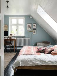 A lovely Swedish home full of flea market finds. Attic Bedroom DecorAttic  RoomsSkylight BedroomSlanted Ceiling ...