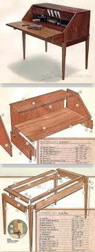 woodworking projects desk. federal secretary desk plans - furniture and projects woodwork, woodworking, woodworking plans,