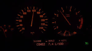 BMW 540i e39 6spd fuel consumption test3 at 140km/h - YouTube