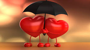two hearts valentine hearts love hearts with umbrella graphics pictures wallpaper hd for mobile 1920 1200