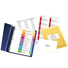 Avery Ready Index Table Of Contents Dividers 10 Tab Set