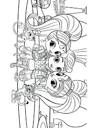 Shimmer And Shine Mermaid Coloring Pages Shimmer And Shine Printable