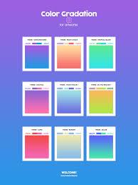 Color Gradation For Artworks On Behance Pantone Color