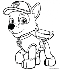 Coloring Pages Paw Patrol Rocky Is Happy Free Coloring Pages