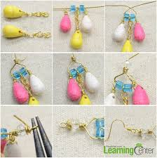 step 2 wire wrap chandelier earrings