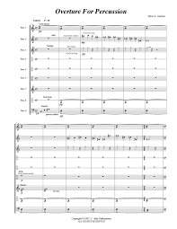 Percussion Bells Notes Chart Overture For Percussion Perc Ens 9