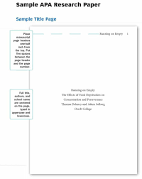 017 Research Papers In Apa Format Science Paper Sample