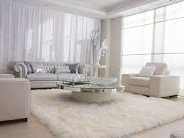 por of white fur area rug with large cievi home chene