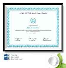 Retirement Certificate Template Of Appreciation Funny Long