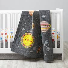 land of nod deep space baby quilt for your future astronaut