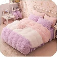 nice warm flannel short plush bedding