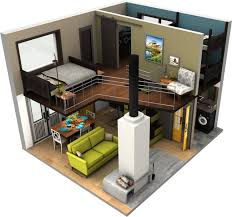 Small Picture Tiny House Floor Plans Small residential unit 3d floor plan 3D